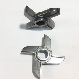 Нож для мясорубки МИМ300 с буртом, отверстие 17 х 19 мм, скругленное, посадка 15 мм