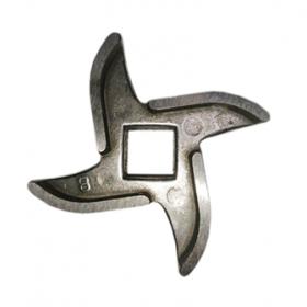 Нож для мясорубки Bork, Zelmer, Cameron,  четырехгранник, отверстие 10,5 мм, посадка 9 мм