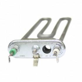 Тэн 1700W, прямой, с отверстием под датчик, L=190 мм, резинка ровная (14 мм), для Indesit, код 08635
