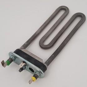 Тэн 1700W, слегка изогнут, с отверстием под датчик, L=170 мм, резинка ровная (14 мм), одна клемма сд